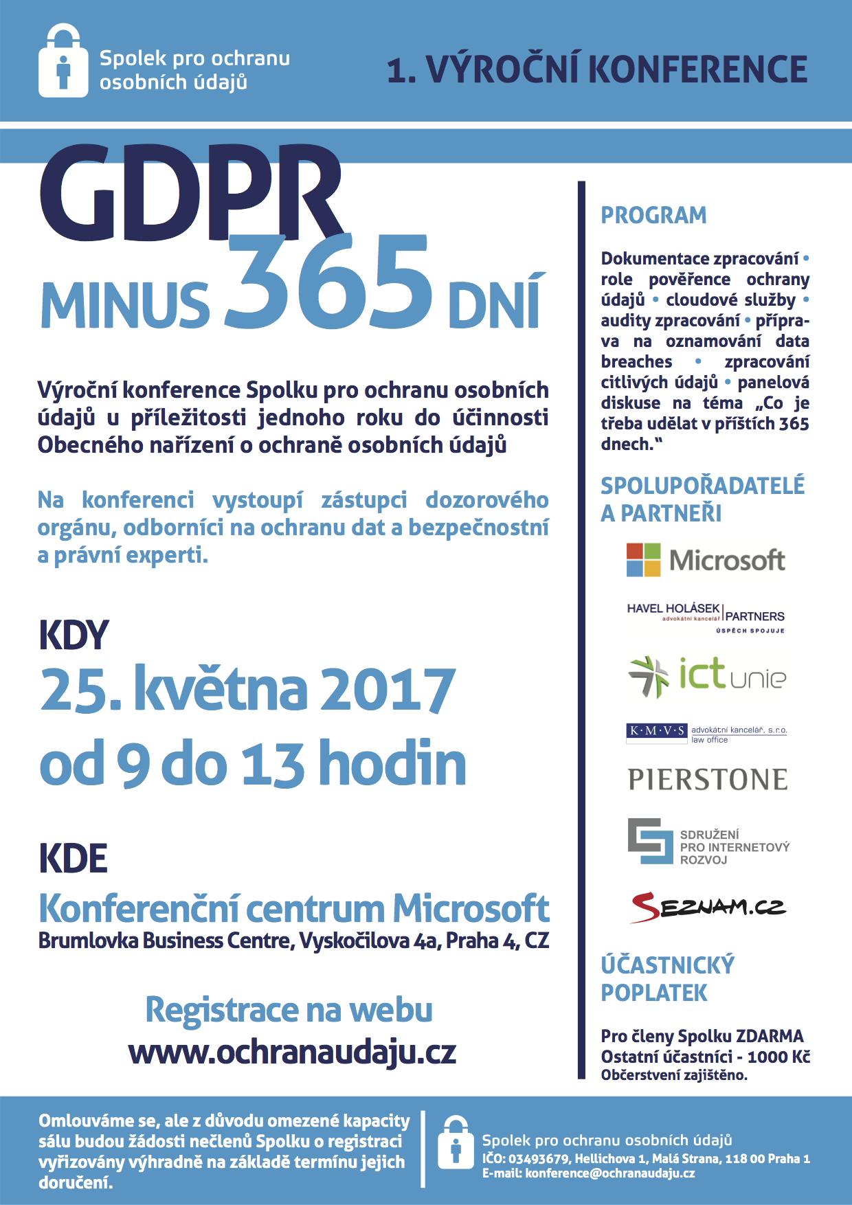 pozvanka konference GDPR