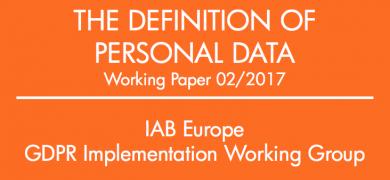 Definice osobních údajů podle IAB Europe